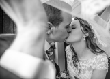 Bride and groom kiss on their wedding day in Killarney Co Kerry