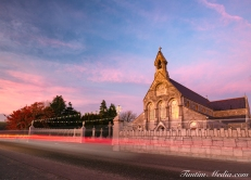Ballincollig church sunset-2