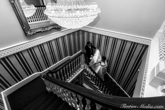 Bride and Groom in Vienna Woods hotel Cork Co Cork
