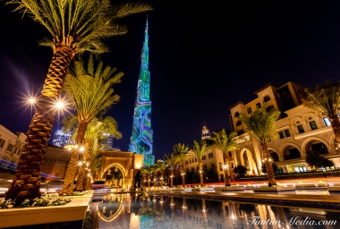 Burj at night_